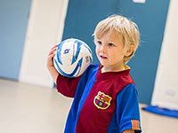 toddler football training